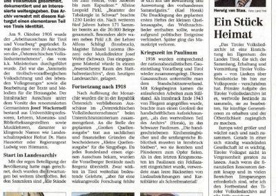 100 Jahre Tiroler Volksliedarchiv - Festschrift Seite 3