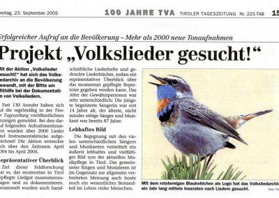 Festschrift 100 Jahre Tiroler Volksliedarchiv - Seite 15